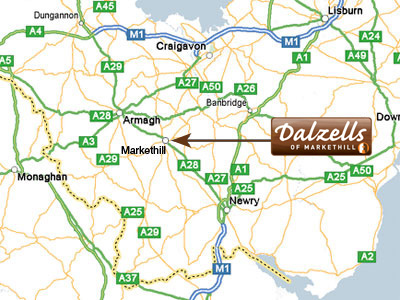 Click to view enlarged version of map showing location for Dalzells of Markethill